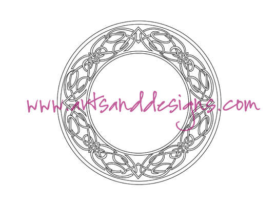 Click for more details of Celtic Circle Digital Stamp (digital downloads) by Julie Lynes