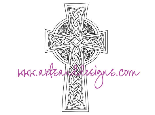 Click for more details of Celtic Cross Digital Stamp (digital downloads) by Julie Lynes