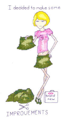 Click for more details of Charlotte - Improvements (cross stitch) by Anne Peden