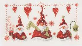 Click for more details of Cheerful Santas (cross stitch) by Vervaco