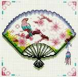 Click for more details of Cherry Blossom Fan (cross stitch) by Needleart World