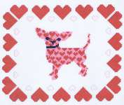 Click for more details of Chihuahua Hearts  (cross stitch) by Classic Embroidery