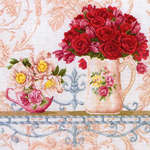Click for more details of Chintz and Roses (cross stitch) by maia