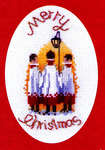 Click for more details of Christmas Card - Carol Singers (cross-stitch kit) by Rose Swalwell