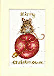 Click for more details of Christmas Card - Merry Christmouse (cross stitch) by Bothy Threads