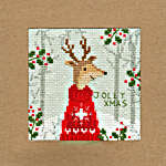 Click for more details of Christmas Card - Xmas Deer (cross stitch) by Bothy Threads