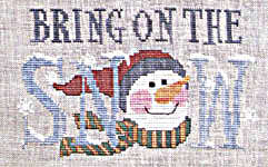 Click for more details of Christmas Cartoon Hangings (cross-stitch pattern) by Waxing Moon Designs