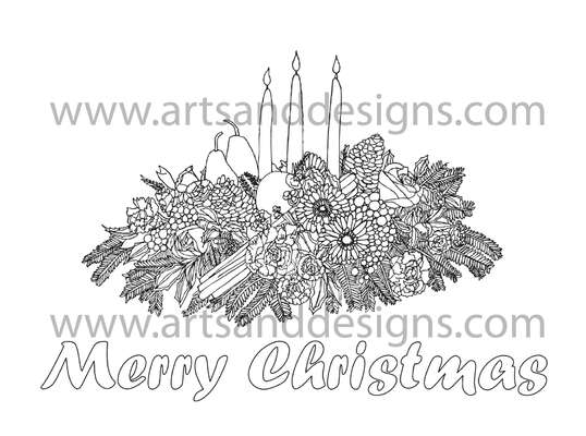 Click for more details of Christmas Centrepiece Digital Stamp (digital downloads) by Julie Lynes