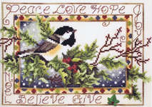 Click for more details of Christmas Chickadee (cross stitch) by Stoney Creek