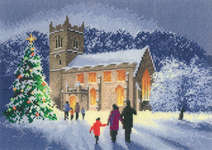 Click for more details of Christmas Church (cross stitch) by John Clayton