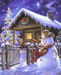 Click for more details of Christmas Cottage (cross-stitch pattern) by Heaven and Earth Designs