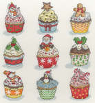 Click for more details of Christmas Cup Cakes (cross-stitch kit) by Bothy Threads
