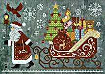 Click for more details of Christmas Delivery (cross stitch) by Cottage Garden Samplings