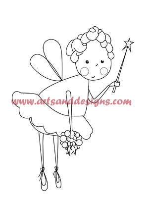 Click for more details of Christmas Fairy Digistamp (digital downloads) by Julie Lynes