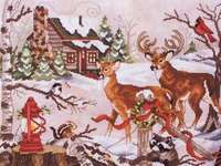 Click for more details of Christmas in the Woods (cross stitch) by Stoney Creek