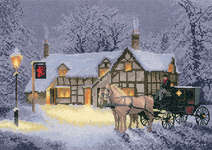 Click for more details of Christmas Inn (cross stitch) by John Clayton