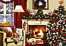 Click for more details of Christmas Interior (cross stitch) by Luca - S