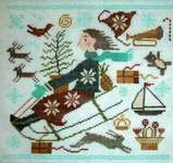 Click for more details of Christmas Joy Ride (cross stitch) by Carriage House Samplings