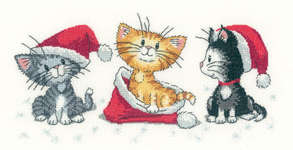 Click for more details of Christmas Kittens (cross stitch) by Peter Underhill