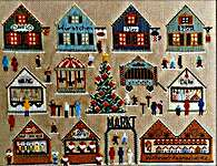 Click for more details of Christmas Market - Weihnachtsmarkt (cross stitch) by Twin Peak Primitives