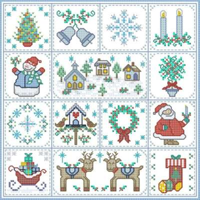 Click for more details of Christmas Patches (cross stitch) by Designs by Cathy
