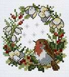 Click for more details of Christmas Robin (cross stitch) by Lesley Teare