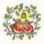Click for more details of Christmas Robins (cross stitch) by Karen Carter