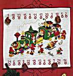 Click for more details of Christmas Train with Elves Advent Calendar (cross stitch) by Permin of Copenhagen