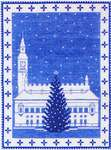 Click for more details of Christmas Tree in the Town Square (cross stitch) by Haandarbejdets Fremme