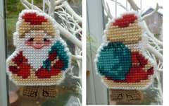 Click for more details of Christmas Tree Santa Ornament (cross stitch) by Riolis