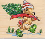 Click for more details of Christmas Tree Ted (stamps) by Penny Black