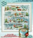 Click for more details of Christmas Village (cross stitch) by Tiny Modernist