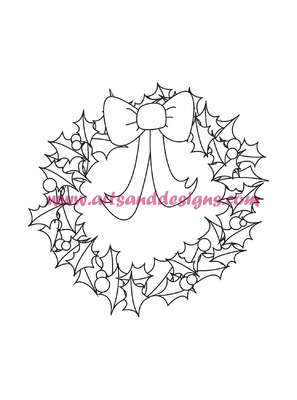 Click for more details of Christmas Wreath Digi Stamp (digital downloads) by Julie Lynes