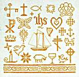 Click for more details of Christmons Motif Sampler (cross stitch) by Erica Michaels