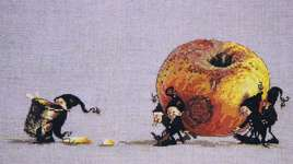 Click for more details of Cider Apple (cross stitch) by Nimue Fee Main