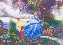 Click for more details of Cinderella (cross-stitch kit) by Thomas Kinkade