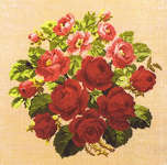 Click for more details of Circle of Roses (cross stitch) by Permin of Copenhagen