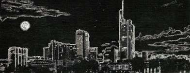 Click for more details of City at Night (cross stitch) by Golden Fleece