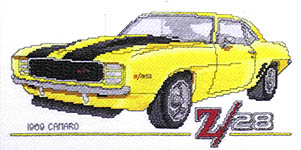 Click for more details of Classic Hot Rods (cross stitch) by Stoney Creek