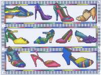 Click for more details of Classic Shoes (cross stitch) by Mike Vickery