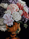 Click for more details of Classical Vase with Roses (cross-stitch kit) by Lanarte