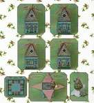 Click for more details of Cloverly's Bunny Bungalow - Pattern and Embellishment Pack (cross stitch) by Just Nan Inc