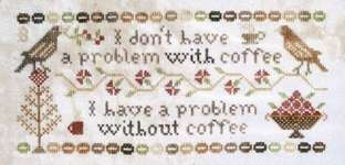 Click for more details of Coffee Drinker's Confession (cross stitch) by Heartstring Samplery