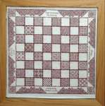 Click for more details of Coloris Chessboard (blackwork) by DoodleCraft Design