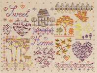 Click for more details of Coloris Home Sweet Home Sampler (cross stitch) by DMC Creative