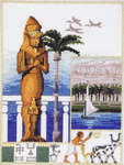 Click for more details of Colossus and Nile (cross-stitch kit) by Permin of Copenhagen