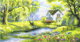 Click for more details of Corner of Paradise (cross-stitch kit) by Riolis