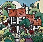 Click for more details of Cottage Gardens I (cross stitch) by Michael Powell
