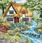 Click for more details of Cottage Stream (cross stitch) by Anchor