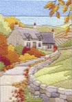 Click for more details of Cottages Autumn (long-stitch) by Rose Swalwell
